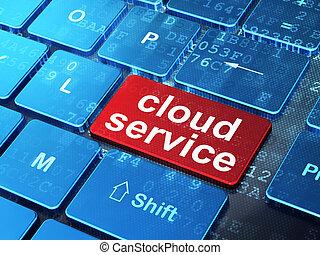 nuvola, calcolare, concept:, nuvola, servizio, su, tastiera computer