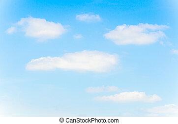nuvola, con, cielo, fondo