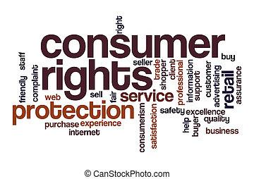 nuvola, consumatore, parola, concetto, diritti