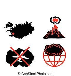 Cenere vulcanica ash vulcanico silhouette icone for Cenere vulcanica