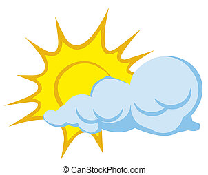 nuvola, dietro, sole