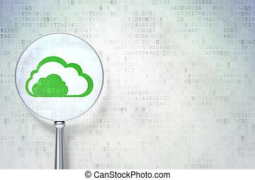 nuvola, digitale, ottico, concept:, tecnologia, vetro
