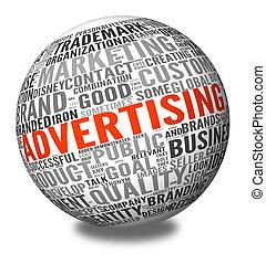 nuvola, etichetta, pubblicità, concetto, parola