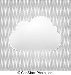 nuvola, grigio, fondo, icona
