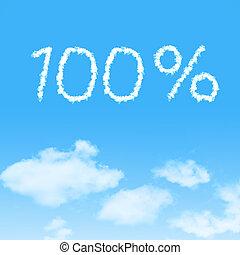 nuvola, icona, con, disegno, su, cielo blu, fondo