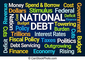 nuvola, nazionale, debito, parola