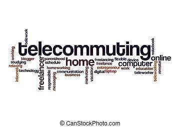nuvola, parola, concetto, telecommuting