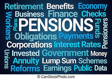 nuvola, parola, pensions