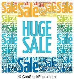 nuvola, parole, vendita, enorme