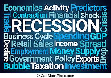 nuvola, recessione, parola