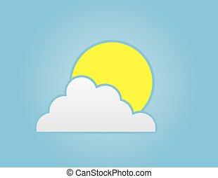 nuvola, sole