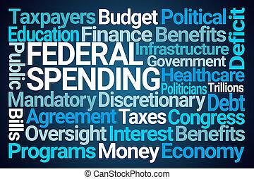 nuvola, spendere, federale, parola