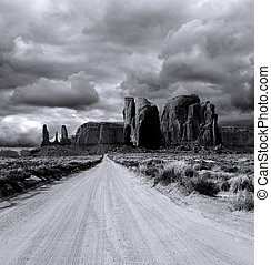 nuvoloso, cieli, valle monumento