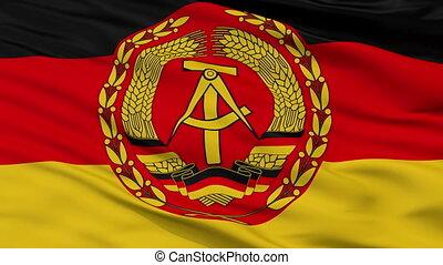 Nva East Germany Flag Closeup Seamless Loop - Nva East...