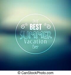 nyár, árajánlatot tesz, nyomdászat, vektor, tervezés, ünnep