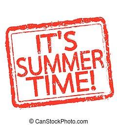 nyár, bélyeg, szöveg, tervezés, idő, -e