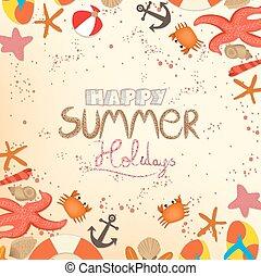 nyár, boldog, ünnepek