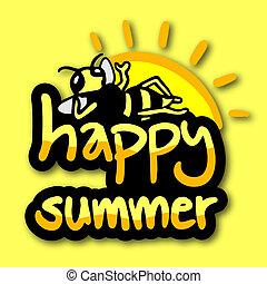 nyár, boldog