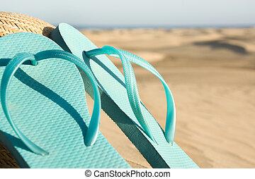 nyár, cipők, képben látható, dűne
