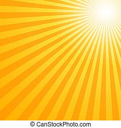 nyár, csípős, nap