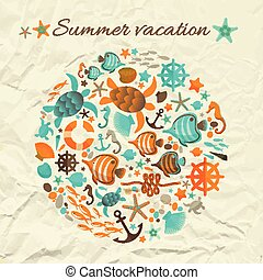 nyár, fogalom, tervezés, szünidő