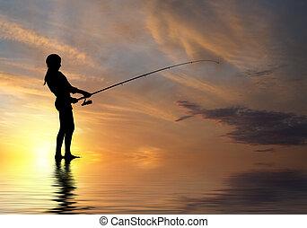 nyár, halászat