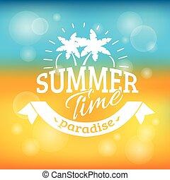 nyár holiday, szünidő, háttér, poszter