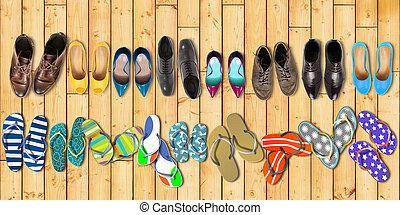nyár holidays, cipők