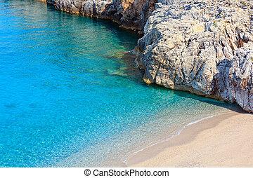 nyár, ionian tenger, lesiklik, albania.