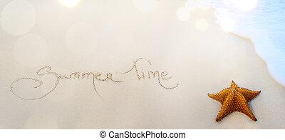 nyár, művészet, háttér, idő