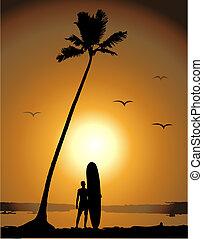 nyár, megüresedések, szörfözás