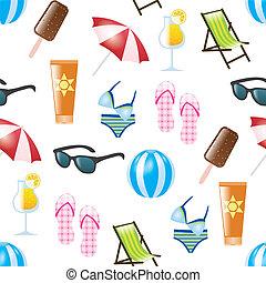 nyár, seamless, motívum