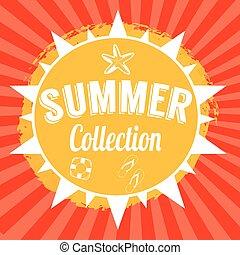 nyár, tervezés, háttér, gyűjtés