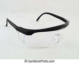 nyílik, biztonság búvárszemüveg, white