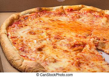 ny, 스타일, 피자