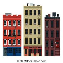 NY buildings - New York old manhattan houses