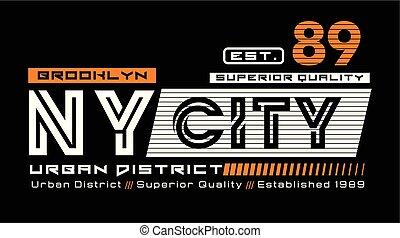 ny city, district, urbain