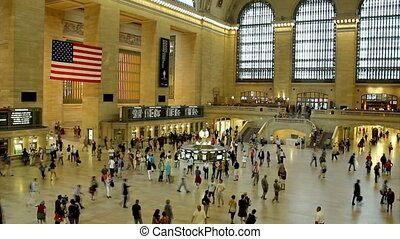 NY Grand Central Terminal Shot - Grand Central Station in...