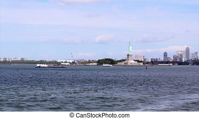 NY Manhatan and Statue of Liberty - The Statue of Liberty, a...