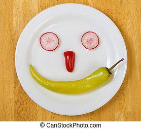 ny mat, smiley