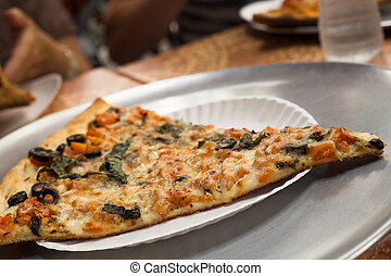 NY Pizza - Slice of traditional New York Style pizza