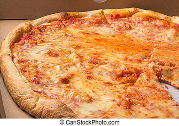 NY Style Pizza - Typical NY Style cheese pizza pie