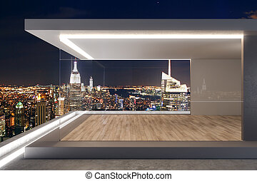 ny, tetto, costoso, vista