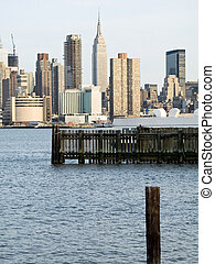 NY View - A shot of the New York skyline taken from New ...