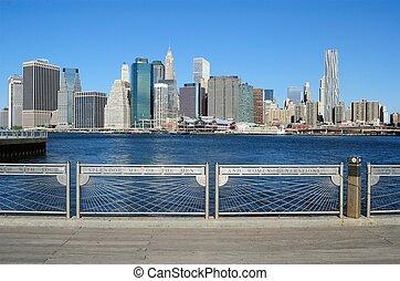 ny york stad horisont