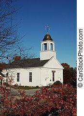 nya england, kyrka