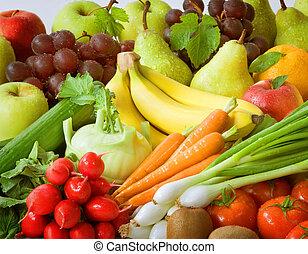 nya vegetables, frukt, sortering