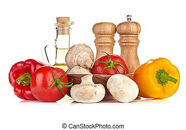 nya vegetables, och, svampen