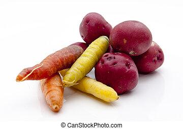 nya vegetables, rot, utvald