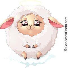 nyashnye sheep on a white background